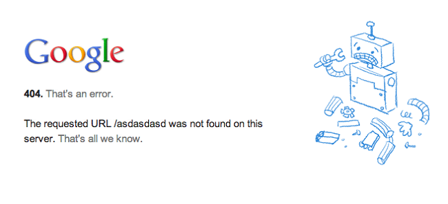 Loi 404 khi duyet web