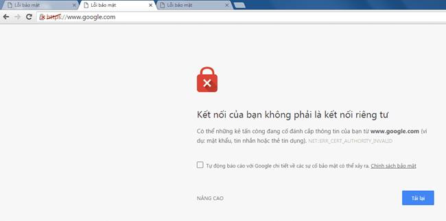 cac loi thuong gap trong he thong bao mat website
