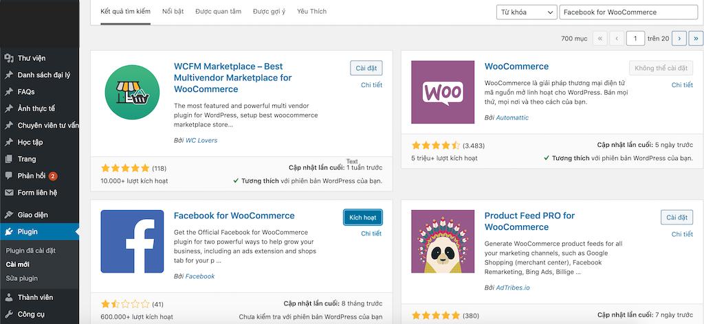 Active Plugin Facebook For WooCommerce-1