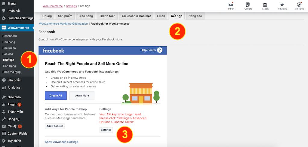 Đồng bộ sản phẩm website lên cửa hàng facebook