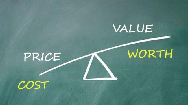 Phân biệt Price, Cost, Value và Worth
